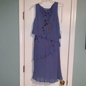 Periwinkle silk dress